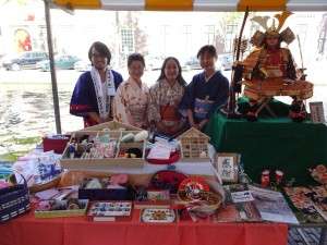 Bij de kraam Orange Heart in Japanmarkt vorig jaar in 2015